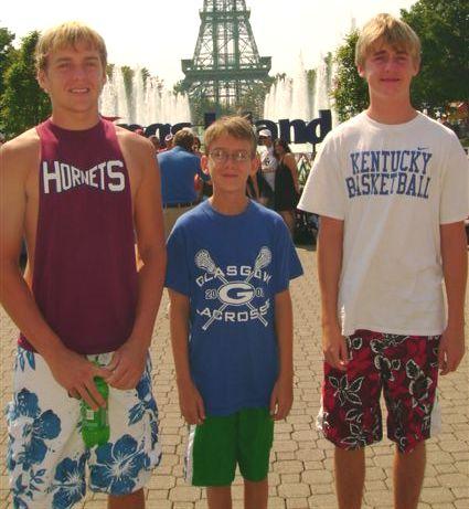 My three lasagna loving nephews, Thomas (left) Jackson (middle) Price (right)