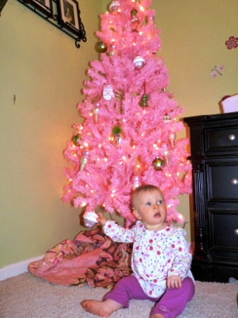 Isn't she precious? And the tree is beautiful too!