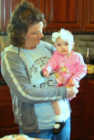 My friend Charlene holds her granddaughter