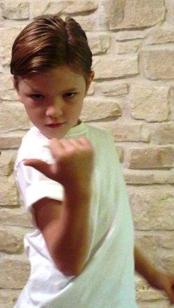 Elvis (aka Luke) is looking as cool as his sister!