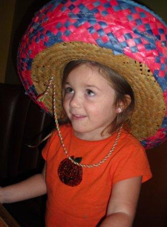 Big sombrero and big birthday for a sweet little girl!