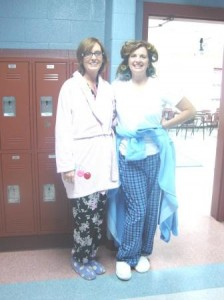 It was pajama day! Aren't Melinda and I cute?