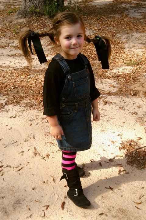 This is Madi on Halloween as Pippi Longstocking.