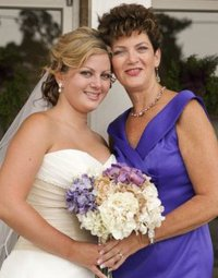 Martha with Brittany on her wedding day.