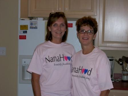 Posing in our NanaHood shirts
