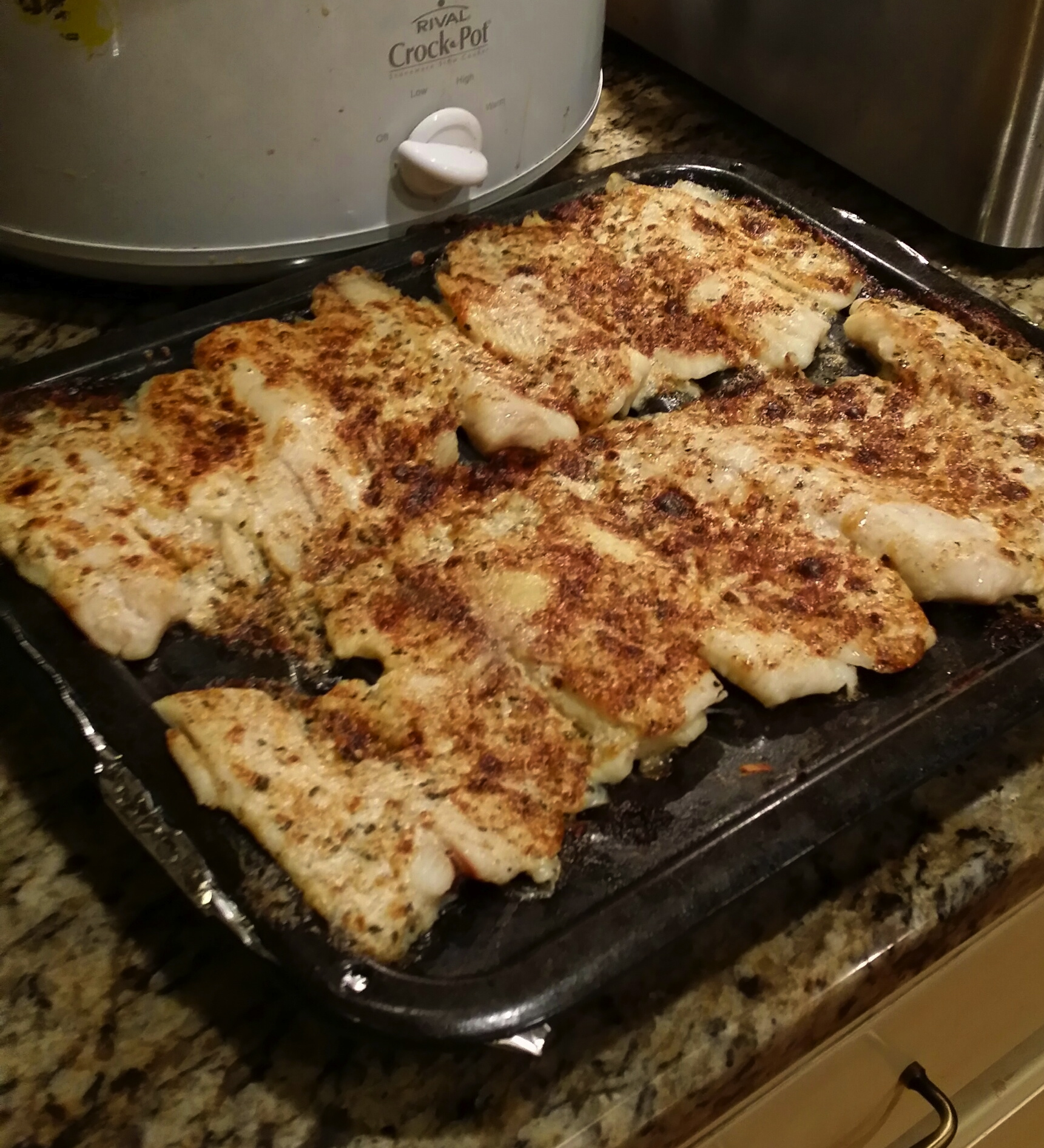 Broiled Tilapia Parmesan doesn't have too many ingredients and it ...
