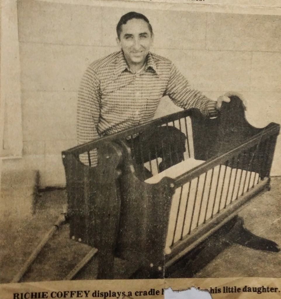 Richey made this crib for his third child, and only daughter, Susan.