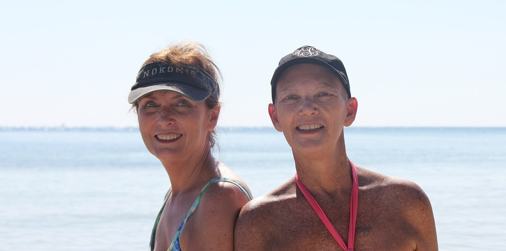 Martha and I at beach