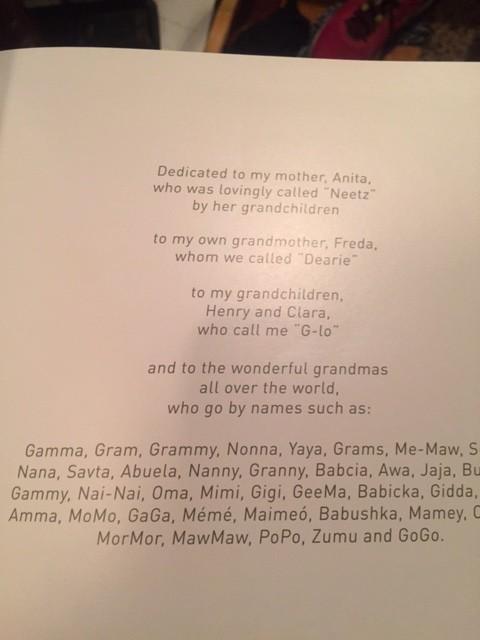 Dedication page of Some Grandmas