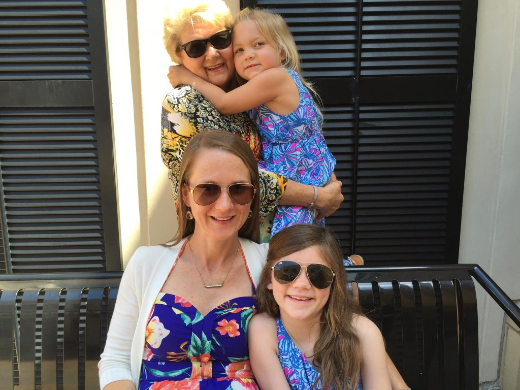 Mimi Judy Wilson Jolly with her daughter-in-law and her two granddaughters. Passing down the love!