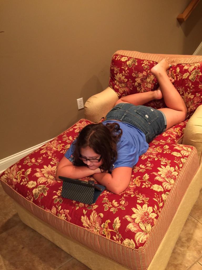 Abby reading