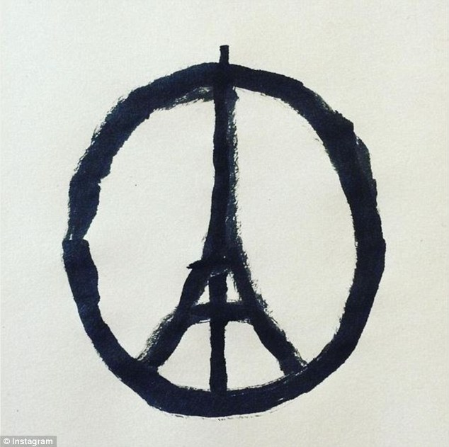 The artist: Frenchman Jean Jullien created the graphic as a reaction to hearing about the attacks