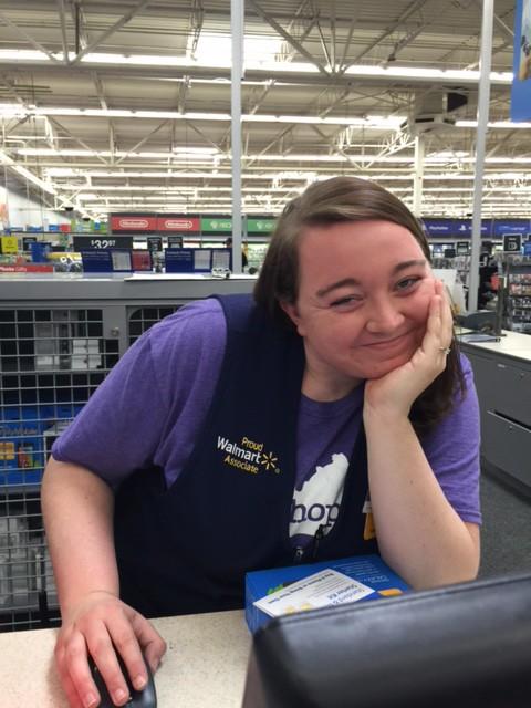 Girl at Walmart