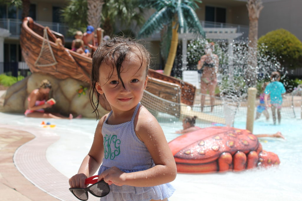 Brynlee at pool-family vacation