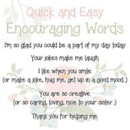 EncouragingWords