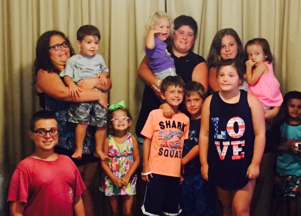 These are my grandchildren and my cousin Martha's grandchildren-cousins