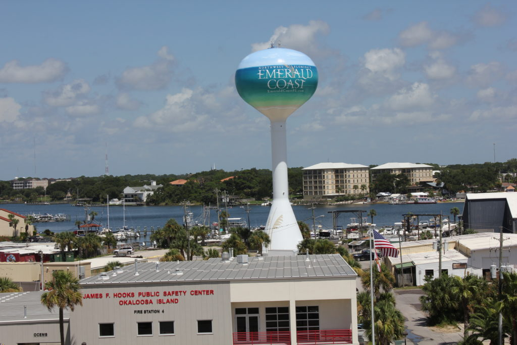 Family vacation-Water tower on Okaloosa Island
