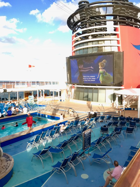 deck of Disney Cruise ship