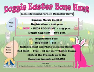 easter hunt for dog bones