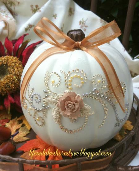 Glitzy Pumpkin Carving