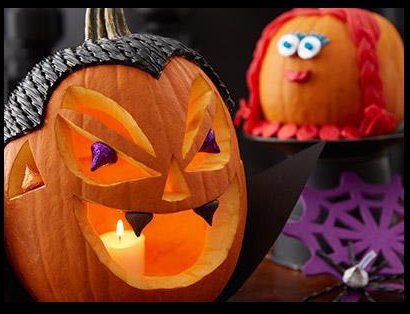 Hershey's Candy decorated pumpkin