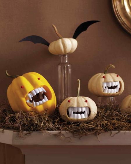 Martha Stewart's ideas for pumpkin decorating